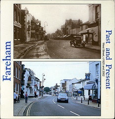 postcard - from Duplevista, England (Jassy-50) Tags: street uk greatbritain england square postcard postcrossing thenandnow fareham thennow multiview