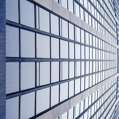 In-Tron-ized (Mathieu Coquerelle (Le Matos)) Tags: blue urban abstract paris lines architecture square structure bleu minimalism montparnasse lignes urbain fujix100