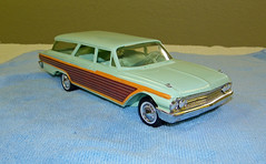 1961 Ford Country Squire Station Wagon Promo Model Car  - Mint Green (coconv) Tags: pictures auto old green history classic cars ford scale car station sedan vintage wagon photo promo model automobile image photos antique country picture mint images plastic 124 vehicles photographs photograph sample vehicle historical kit autos collectible collectors promotional squire coupe automobiles dealership johan galaxie 1961 fairlane dealer 61 mpc 125 amt smp hubley revell banthrico