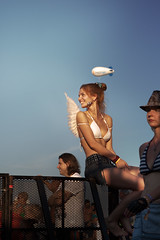 Angel (gribkovaaa) Tags: street blue summer sky people color smile festival angel fence wings russia crowd balloon bikini blonde 2x3 angelwings girle nasheradio canoneos5dmkii nashestvie2013 gribkovaaa