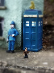 Doctor who and police box and policeman