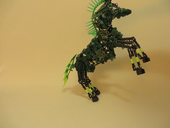 Horse of a Different Color (28) (origamiguy1971) Tags: horse green lady bionicle adrienne moc afol esseltine origamiguy origamiguy1971 affol