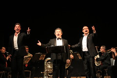 Concert:  three tenors on stage