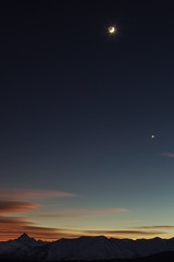 Monviso, Moon and Venus (a galaxy far, far away...) Tags: flickrdiamond impressedbeauty abigfave roccasella valdisusa valsusa valledisusa robertobertero canon 70300canon evening eveningshot moon luna venere outdoorphotography