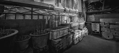 A Corner Of Stairway (Picocoon) Tags: old blackandwhite bw building corner chinese documentary stairway pot