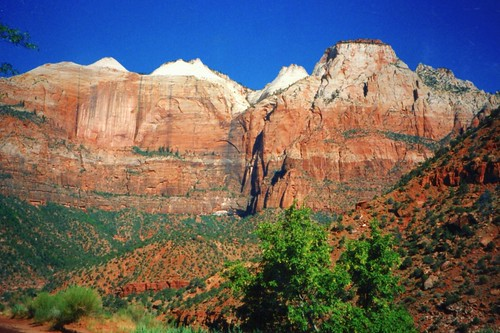 Zion National Park ~ Utah ~ West Temple and Towers of the Virgin ~ My Film 1990