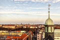 From The Top Of Round Tower. (h a m i d j a h a n g i r ) Tags: world life road christmas street old city trip travel autumn trees winter friends light vacation sky people urban sun holiday flower color macro building tree eye tower art fall love me nature birds festival architecture clouds canon vintage copenhagen germany landscape fun denmark photography photo still model europe dubai raw day view photos top frankfurt live round zeil greatnature greatphotographers uploaded:by=flickrmobile flickriosapp:filter=nofilter