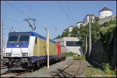 91 80 6146 542-6 (Ligne 4) Tags: green db cargo transportation bahn kassel deutsche 185 bombardier traxx 146 schenker metronom btl baureihe