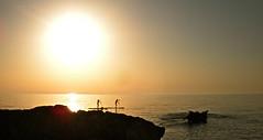 In Viaggio (bellomo.marco89) Tags: sunset sea sky italy silhouette san tramonto mare foto lo cielo sicily marco margot sole palermo capo sicilia canoa bellomo vito scogli scoglio profondit castelluzzo makari splendente potd:country=it