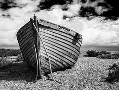 CLINKER BUILT (CJs STUDIO) Tags: england sky texture beach dark mono boat kent moody grunge dungeness clinker theworldwelivein