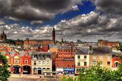 Norwich Panorama (Tony Shertila) Tags: city england sky urban panorama castle weather architecture clouds europe day view cloudy britain norfolk norman norwich hdr eastanglia anglia cityvista mygearandme