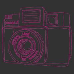 Holga (davros3000) Tags: fashion shirt graphicdesign sketch sweater holga clothing lomo toycamera tshirt sweatshirt etsy tee rainbowpieclothing
