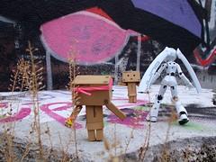 In the assault of Street Art!  (Damien Saint-) Tags: toy japanese amazon von vinyl pepsi fireball yotsuba flgel danbo drossel calbee amazoncojp revoltech danboard figma