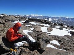 Writing testimonios on the summit of Veladero (6420m)