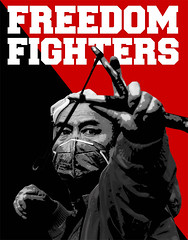 Fight! (oystex) Tags: poster freedom fight bangkok thathailand
