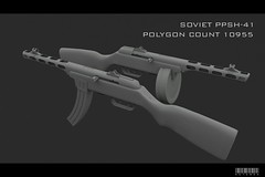 PPSH-41 (ke1ebra) Tags: 3d weapon machinegun 41 sovietunion 3dsmax ppsh ppsh41 sovietgun middlepoly gunofvictory