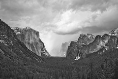 Happy Birthday Ansel Adams! (Jeffrey Sullivan) Tags: california park blackandwhite copyright usa snow storm weather canon photo timelapse spring day view cloudy snowstorm tunnel national valley yosemite april blizzard yose 2011 jeffsullivan 5dmk2 caliparks