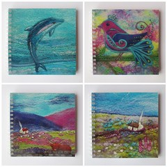 Four New Notebook Designs! (*Aileen Clarke Crafts*) Tags: notebook sketchbook etsy folksy