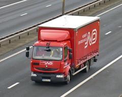 MX62 ELV (Cammies Transport Photography) Tags: truck edinburgh norbert renault lorry newbridge flyover m9 midlum dentressangle mx61elv