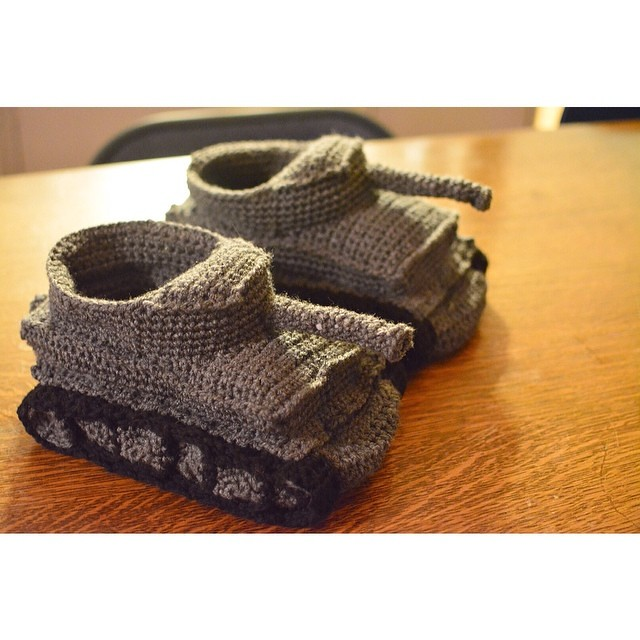 Ravelry Panzer Slippers Pattern Tiger I Pattern By Mily Teixido