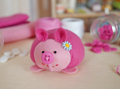Alm do Porco-espinho agulheiro, podemos fazer um lindo Leitozinho de Feltro! (BoniFrati) Tags: cute pig diy craft felt feltro tutorial pap molde porco porquinho leito passoapasso bonifrati faavocmesmo feltpig leitozinho