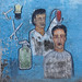 A Painted Sign Advertising For A Barber Shop And Depicting A Man Getting A Haircut, Boorama, Somaliland
