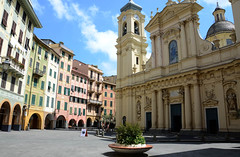 Piazza (Andy WXx2009) Tags: streetphotography artistic square plaza church city beauty fountain buildings architecture history culture religion santamargherita liguria italy holiday houses europe tower cityscape urban skyline piazza