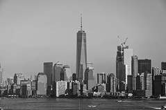 Manhattan (Leguman vs the Blender) Tags: nyc manhattan bw flickrtravelaward