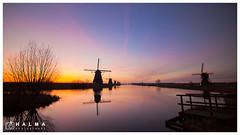 Kinderdijk Sunrise (windmills, rowing boats and more) Tags: halma landschap landscape kinderdijk molens windmills groothoek wide angle zonsopkomst sunrise molenwaard alblasserwaard nederland