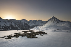 Berninapass (Marcin Dallig) Tags: bernina pass mountains switzerland swiss snow rocks sunrise sun blue 60d st moritz lago bianco