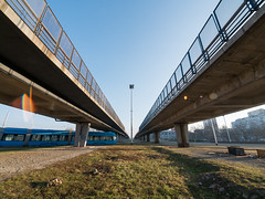 Overpass in the sun! (elkarrde) Tags: cityscape city zagreb croatia urban urbanlandscape architecture sun sunny february winter 2017 winter2017 february2017 sky street streetlife panasonic lumix gx7 dmcgx7 olympus zuikodigital olympuszuikodigital panasoniclumixdmcgx7 mirrorless ultrawideangle ultrawide 714 714mm 714mmf4 7144 panasonicgx7 camera:model=dmcgx7 camera:brand=panasonic camera:mount=microfourthirds mmf1 olympusmmf1 camera:format=microfourthirds camera:brand=lumix lens:brand=olympus lens:mount=fourthirds lens:focallength=714mm lens:maxaperture=4 lens:model=zuikodigital714mm14ed olympuszuikodigital714mm14ed 7mm location:country=croatia location:city=zagreb twop overpass traffic tram flare digital mediumdigital