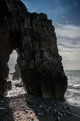 Church Bay Archway (dilys_thompson) Tags: churchbay anglesey arch sea seascape bluesky water splash beach rocks
