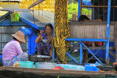 Having Breakfast - Cambodia (cattan2011) Tags: river waterscape cambodia fishingvillage travelblogger traveltuesday travelphotography travel landscapeportrait landscape