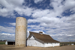 the John E. Clark Barn (eDDie_TK) Tags: colorado co bouldercountyco bouldercounty longmontco longmont barns whitebarns silos farms farming rural rurallife ruralliving