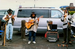 img399 Central or South American musicians near the Fisherman's Wharf (kalihikahuna74 (OkinawaKhan808)) Tags: unitedstates us stateside san francisco sanfrancisco california america thebay bayarea fixed trip vacation august 1997 1990s 90s analog predigital camera scan scaned old school oldschool pointandshoot pointandshootcamera unitedstatesofamerica