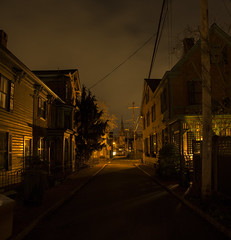 365-60 (• estatik •) Tags: 36560 365 60 march12017 3117 weds wednesday night long exposure george st street coryell historic houses homes house road lambertville nj new jersey hunterdon county panorama whitebalance orange red