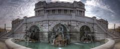 The Court of Neptune Fountain pano (jed52400) Tags: tokina1120 washingtondc panorama hdr thecourtofneptunefountain libraryofcongress thomasjeffersonbuilding