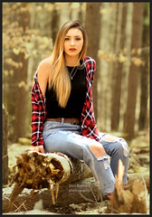 IMG_4222_set the woods on fire...walk in the park (donaldbrainard1) Tags: girl beautiful woods park flannel shirt jeans lighting pretty face expression canon 7d photography lovely portrait gorgeous wonderful scenic walk color hair eyes glamour fashionable casual model eoshe