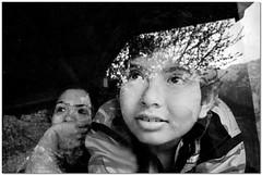 my precious ones (Soumya Bandyopadhyay) Tags: son wife family portrait face reflection himalaya himachalpradesh naddi mcleodganj bw canoneos80d canon1855mmisii