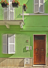 green (poludziber1) Tags: city colorful cityscape color colorfull street summer streetphotography green italia italy light window door building travel urban sanbenedetto challengeyouwinner cyunanimous 15challengeswinner