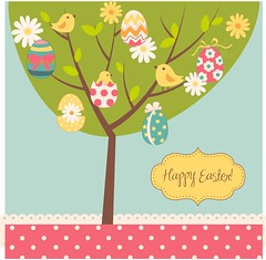 Happy Easter to all my Christian friends! (tengds) Tags: easter easter2017 eggs birds tree green yellow pink tengds