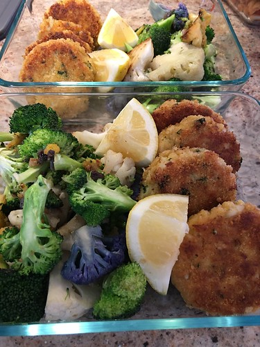 Crab Cakes with Steamed Veggies