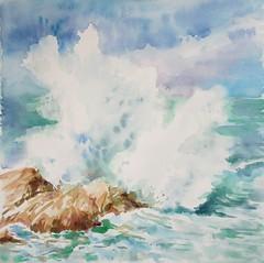 La mer N°13 (geneterre69) Tags: eau mer vague rocher extérieur