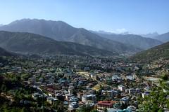 City of Thimphu (Sajeeb75) Tags: sky city travel blue buildings clouds outdoor urban architecture cityscape building nikon asia skyline mountain thimphu