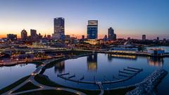 Milwaukee Skyline (PK's Image Links) Tags: milwaukee skyline ariel uav drone phantom