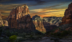 ZION (Color Blind 56) Tags: zion zionnationalpark sunset sunrise sky elements13 utah landscape d7100 cb1956 composite viewpoint nikon mountains rock clouds cliffs adventure