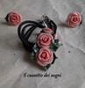 parure (Il cassetto dei sogni) Tags: pastadimais porcellanafredda artigianali pendente orecchini fiori ninfea rosa