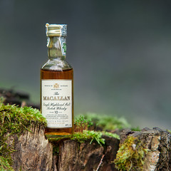 The Macallan (kondex vs mechagodzilla) Tags: whisky whiskyporn bottle booze bourbon macallan macro makro closeup peat moss trunk forest floor dof green bokeh poland polska polen bokehpoland beyondbokeh reflections reflection drink tree woods