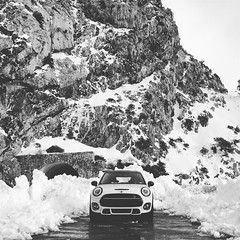 F56 Mini Cooper (cyde_ways) Tags: f56 mini jcw johncooperworks coopers blackandwhite bw snow national forest