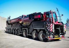Finally. (HivizPhotography) Tags: liebherr ltm 175091 mammoet heavyhaulage heavy scotland uk lifting crane red black canon 24mm f28